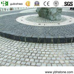 Blanc/gris/noir/rouge/jaune flammé granit/cube de basalte Stone/Paving Stone pour jardin/passerelle/route (G654/G603/G682/G684/G602/G666)