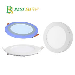 China fabricante de la fábrica de montaje superficial doble color super delgada 3 4 5 6 8 10 pulgadas Slim empotrable de 9W Downlight LED 12W 15W 18W 20W 30W.