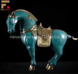 Sculture animali del cavallo del bronzo dell'artigianato del Ministero degli Interni della scultura del bronzo del mestiere del metallo (GSBR-537)