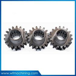Aço automática de precisão de usinagem CNC Coroa e Pinhão Usar no eixo traseiro do carro