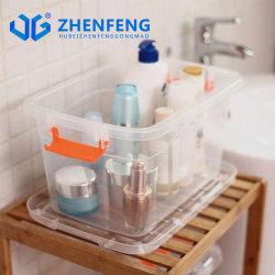 Los productos de plástico de alta calidad 6L Underbed Caja de almacenamiento de plástico caja de zapatos de caja de regalo juguetes caja con la mano