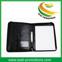 Fermeture à glissière A4 A5 PU Planificateur d'ordre du jour de l'organiseur portable en cuir