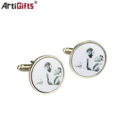 Kundenspezifischer Kleidungs-Dekoration-Andenken-Metallmanschettenknopf