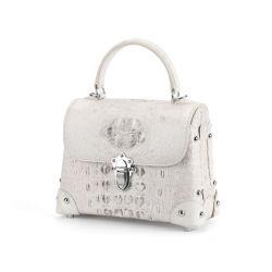 Borsa reale delle donne del cuoio genuino delle borse delle signore del cuoio della pelle del coccodrillo del sacchetto superiore del progettista