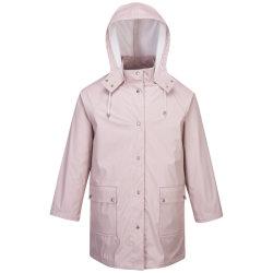 Ladies' résistant à l'eau et de la mode PU Veste de pluie