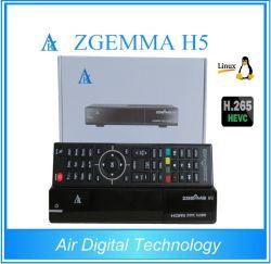 La technologie numérique de l'air Zgemma H5.2s Hevc/H. 265 Récepteur Satellite Dual Core Linux OS E2 avec le DVB-S2+S2 Tuners Twin