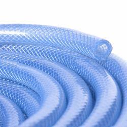 Tubo flessibile di rinforzo del tubo del tubo del PVC intrecciato fibra di plastica libera della tubazione del vinile per il trasferimento dell'acqua