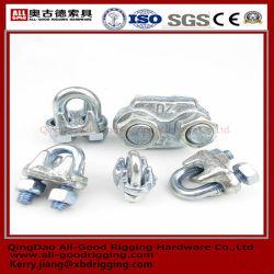 L'acciaio G450 ha galvanizzato la goccia li ha forgiati tipo maschere della clip della fune metallica (CE, SGS, BV, iso) & le foto l'acciaio di G450 che ha galvanizzato la goccia li hanno forgiati tipo la clip della fune metallica (Ce,