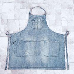 De nieuwe Kleren van het Werk van de Schort van Workwear van het Denim van de Ontwerper Katoen Gewassen (rs-170304)