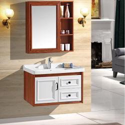 kabinet van de Badkamers van de Vezel van de Koolstof van de Stijl van 80cm het Eenvoudige met Spiegel kabinet-018