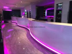 Tw Night Club Bar comptoir commercial / comptoir de réception avec LED