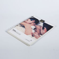 Finitura di superficie della laminazione della pellicola e spirale materiale del prodotto del cartone & della carta - stampa del libro rilegato