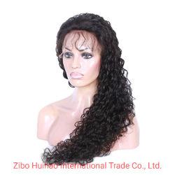 100% Remy cabello rizo rizado peluca de cabello peluca de encaje completo