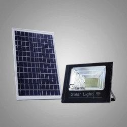 200W 재충전 전지 자동 가벼운 센서를 가진 원격 제어 IP65 태양 LED 투광 조명등