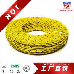 UL3231 tressé en fibre de verre en caoutchouc de silicone sur le fil électrique de chauffage