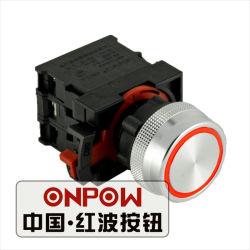 Bouton poussoir Onpow avec bague de 22mm d'éclairage allumé, LED rouge (ONPOW26-11E/R/12V/P)