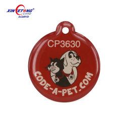 金属のリングPVCが付いている動物のエポキシRFIDの札はNFCペット札をカスタム設計する