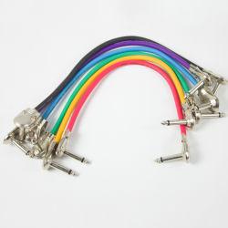 """De veelkleurige Elektrische Kabel van het Flard van de Gitaar AV met Schakelaar Hefboom van 6.35 1/4 de """" Elleboog"""