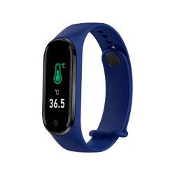 Fascia di MI di forma fisica di M4PRO che rende a termometro del corpo di Bluetooth di sport del kit i braccialetti astuti per gli uomini delle coppie delle donne dei reticoli degli uomini e l'insieme della collana