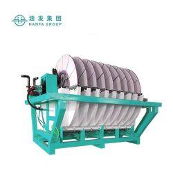 Deshidratación de lodos de mineral de maquinaria de minería de equipos de procesamiento de mineral de tambor giratorio Disco cerámico