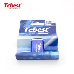 Fabbrica direttamente con le batterie a secco primarie alcaline di CE/RoHS/MSDS 6lr61 9V per l'orologio o radio o indicatore luminoso o giocattoli del LED