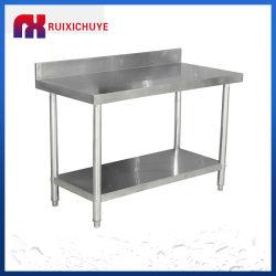 Edelstahl-Küche Arbeitstisch mit Doppelwaschbecken