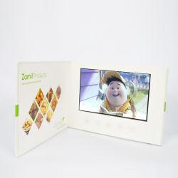De fabriek levert Kaart van de Groet van de Brochure van Hardcover LCD van de Brochure van 7 Duim de Video Video