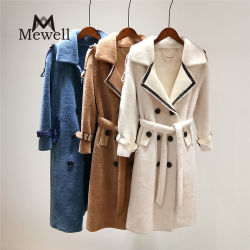 Vestuário de inverno de outono de 100% em lã de lã de couro de carneiro de coat Blusões coreanos mulheres tamanhos grandes ′ S Coats Teddy Coat