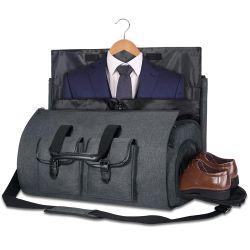 2 em 1 Hanging Garment Duffel Bag Suit Mala de viagem de negócios com bolsa da Sapata