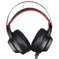 잡음 제거 헤드셋 게임 및 마이크 LED 조명 스위치 PS4 Xbox One PC 게임 Bluetooth 이어폰 Office 헤드폰