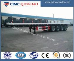 Fabrikant Cimc 2 Assen ~ 4 Semi Aanhangwagen van de Vrachtwagen van de Container van Assen 40FT Flatbed