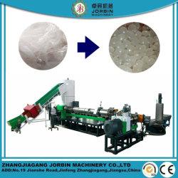 Residuos de plástico HDPE LDPE Jumbo bolsas tejidas PP PET Reciclado de peletización máquina extrusora con la madre y bebé combinación/máquina de extrusión de dos etapas