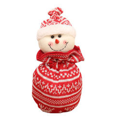 カスタムロゴコーポレートプロモーショナルベビーソックス(ステーションリー)ミニギフト バッグ円形のカスタマイズされたビジネス贅沢新しい生まれた独特なクリスマスのソックス Snowman 愛ギフトセット