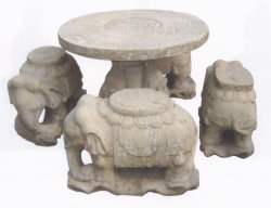 Antiek beëindig de Reeks van de Bank van de Lijst van de Olifant (HS2001)