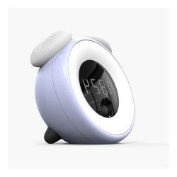 Smart электронный индикатор будильника ночное освещение декор лампа LED ночная лампа с бесконечным затемнение и человеческого тела режим распознавания речи - B