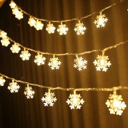 1.5M 10levou Árvore de Natal Santa Claus Boneco de luz LED de Floco de Neve Festival String Bar Casa Decoração Partido ornamento de Natal