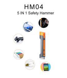 Power 은행을%s 가진 1 Emergency Flashlight Safety Hammer Rechargeable에 대하여 휴대용 Vehicle Tools 5