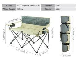 La 600d de acero de construcción de tejido Polyster Fram silla plegable