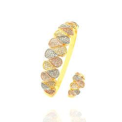 Blumenblatt-verbindene Form-Schmucksache-Armband-Armband-Set-Frauen-Mädchen