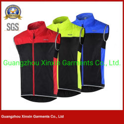 Rivestimenti di riciclaggio del tessuto della Jersey visibilità respirabile esterna riflettente degli abiti sportivi di alta (J568)