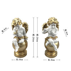 La estatua del jardín de Los Ángeles religiosa de resina de la Figurilla al aire libre para interiores decoraciones religiosas
