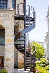 Piscina Galvainzed/Revestimento a pó de aço de metal escada em espiral