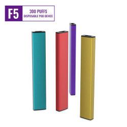 Vendedor caliente desechables de aluminio E-Cig 300 Puff 6 colores y sabor de la Fruta disponible OEM