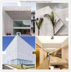 Fabricante China placa metálica de chapa perforada de acero inoxidable para la construcción de fachada