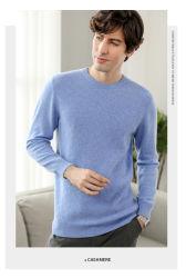 가을 또는 겨울 남자의 캐시미어 천 스웨터 가을 또는 겨울 남자의 둥근 목 스웨터 스웨터 우연한 느슨한 니트 스웨터를 데운다
