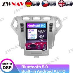 Lettore DVD dell'automobile del Android 9 dello schermo di Tesla per l'unità 2007-2010 della testa del registratore della radio di percorso di GPS dell'automobile di fusione Mk4 del Ford Mondeo