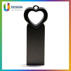 메탈 끈 하트 모양 건 컬러 사용자 지정 로고 USB 플래시 드라이브
