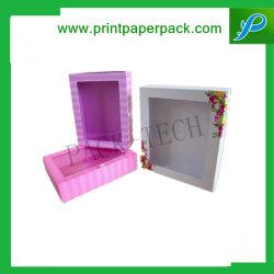 Venda a retalho de fantasia de luxo caixa Catálogo de endereços da caixa de embalagem de papel Caixas de armazenamento de CD/DVD