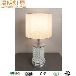 Varilla de acrílico transparente de sombra de lino para la decoración de la luz de mesita de noche