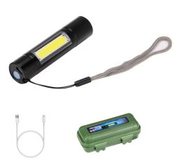 مصباح جيب متعدد الوظائف قابل لإعادة الشحن من الألومنيوم المتين خفيف الوزن